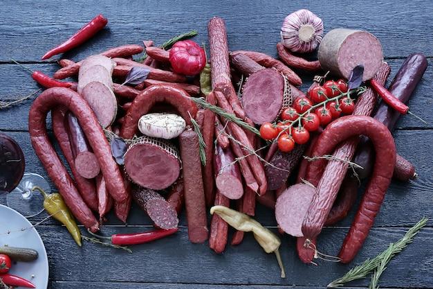 Вкусный ассортимент мяса Бесплатные Фотографии