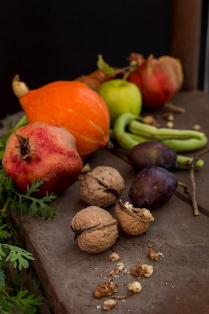 Вкусные осенние фрукты и овощи Бесплатные Фотографии