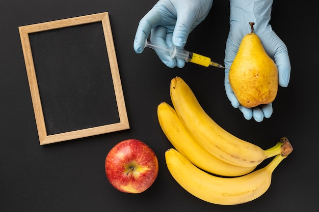 おいしいバナナ遺伝子組み換え食品 無料写真