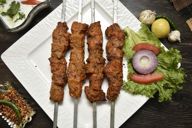 Delicious barbecue (b.b.q) Premium Photo