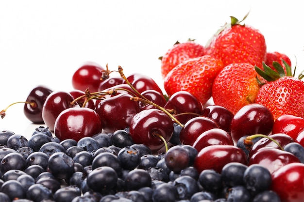 Delicious berries on the table Free Photo