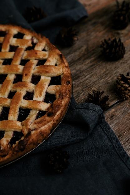Вкусный черничный пирог Бесплатные Фотографии