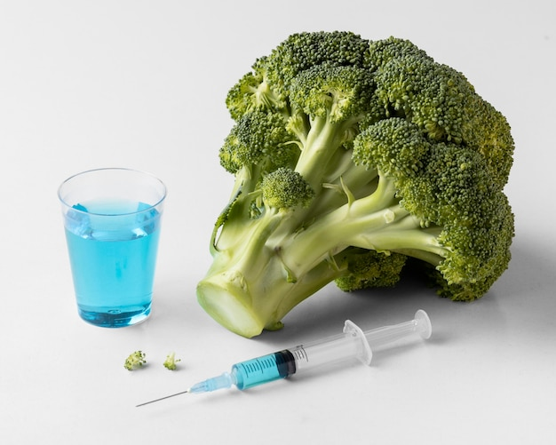 おいしいブロッコリー遺伝子組み換え食品 無料写真
