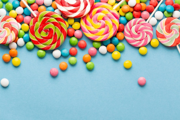 Delicious candy concept with copy space Free Photo