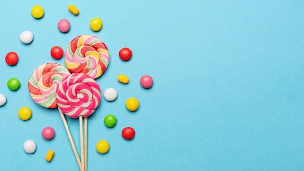 コピースペースとおいしいお菓子のコンセプト 無料写真