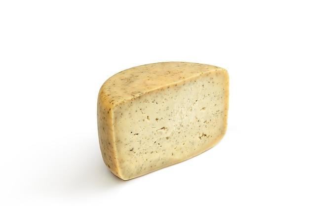 맛있는 치즈는 흰색 절연 닫습니다. 무료 사진