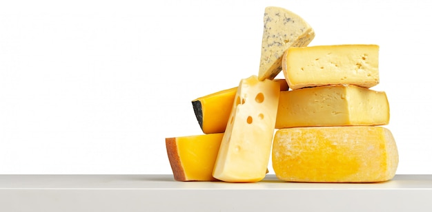 Delicious cheese on the table Premium Photo