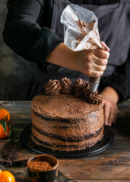 美味しいチョコレートケーキ 無料写真
