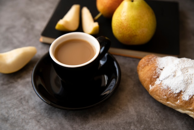 Delicious coffee and pastry breakfast Free Photo