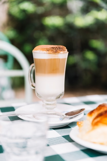 Delicious coffee with milk Free Photo