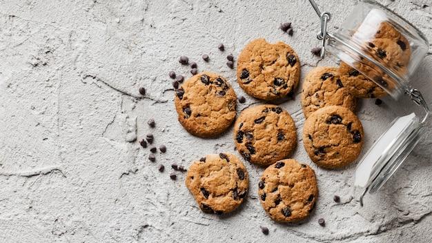 おいしいクッキーフラットレイ Premium写真