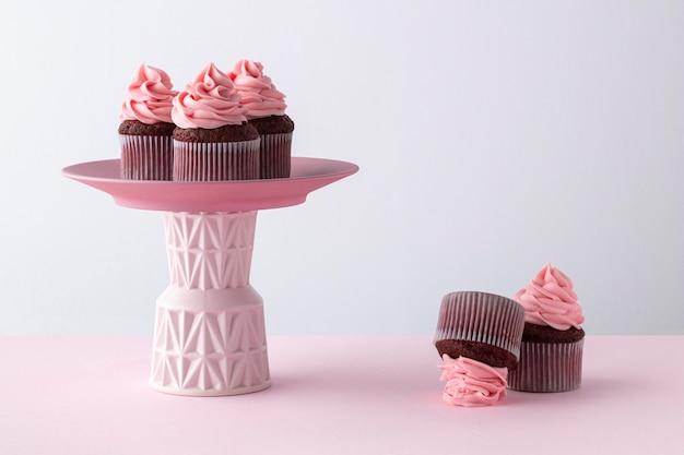 おいしいカップケーキのアレンジメント 無料写真