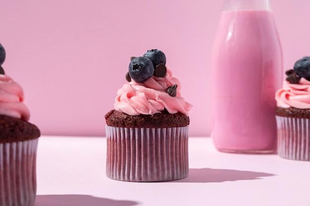 Вкусные кексы с черникой Бесплатные Фотографии