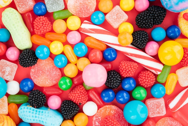 Delicious flavored candies assortiments Free Photo
