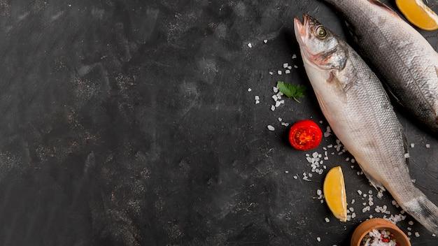 Delizioso spazio copia pesce fresco Foto Gratuite