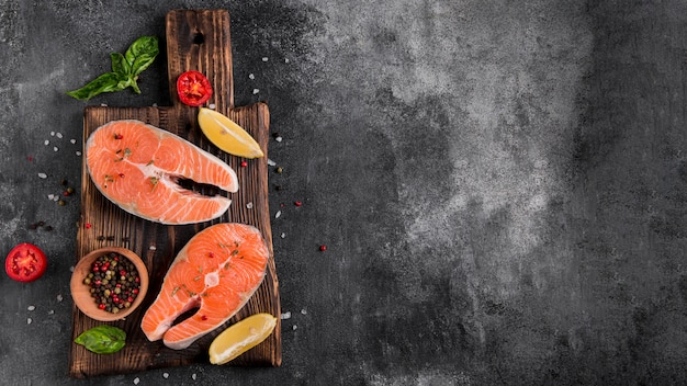 맛있는 신선한 연어 생선 무료 사진