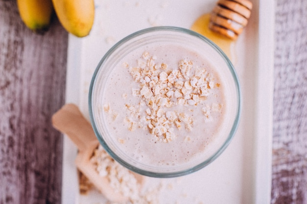 Delicious healthy breakfast or snack. Premium Photo