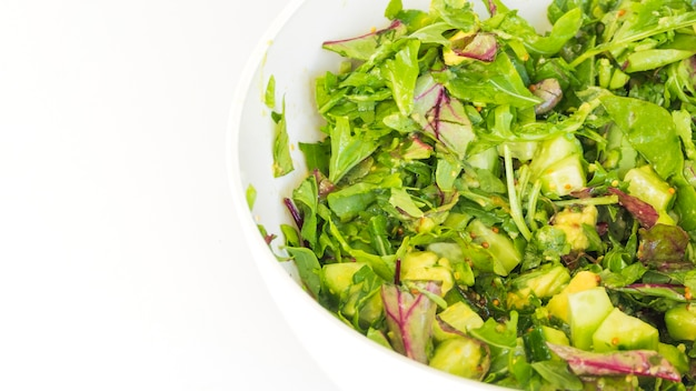 Delicious and healthy lettuce salad Free Photo