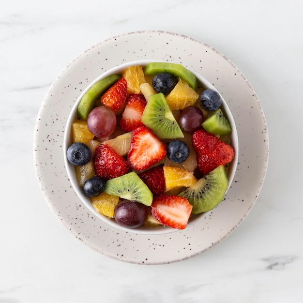 さまざまなフルーツを使ったおいしいヘルシースナック 無料写真