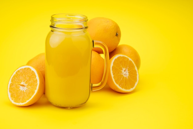 Delicious juice made from oranges Free Photo