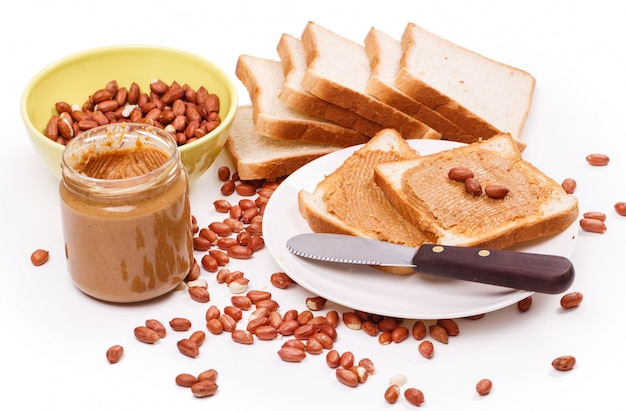 Delicious peanut butter on the table Free Photo