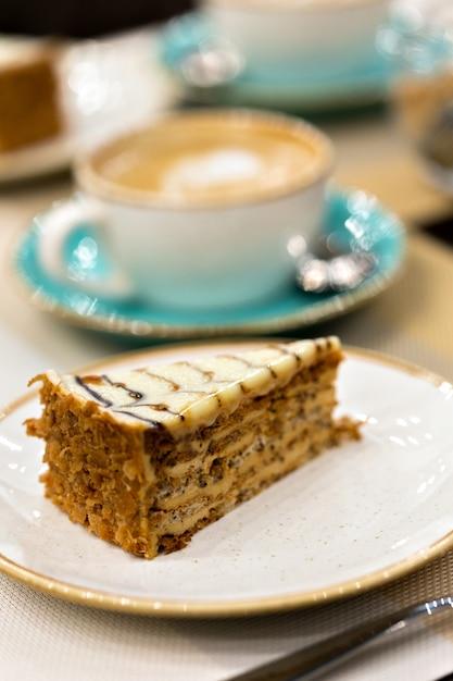 Delicious piece of esterhazy cake Premium Photo
