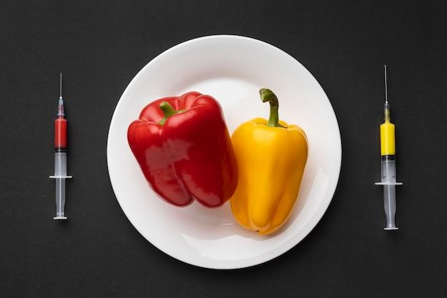 おいしいピーマン遺伝子組み換え食品 無料写真