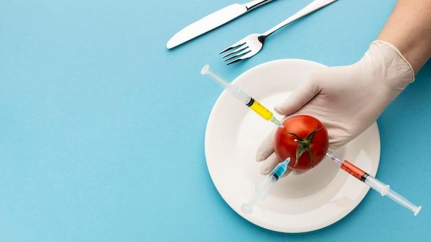おいしいトマト遺伝子組み換え食品 無料写真