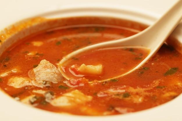 肉と野菜のおいしい子牛シチュースープ Premium写真
