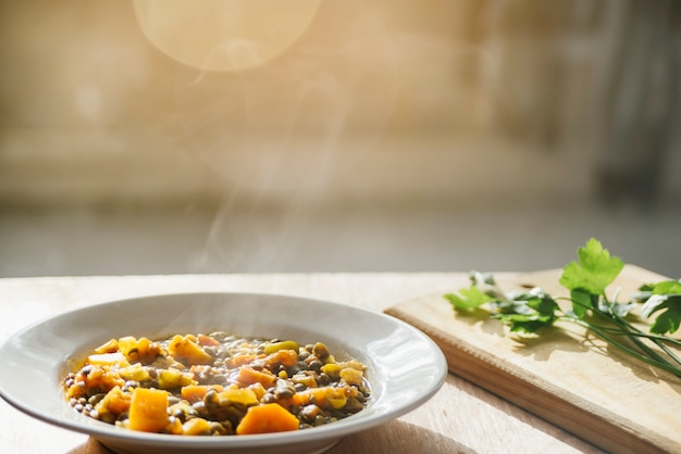 Delicious vegetarian food on plate Free Photo