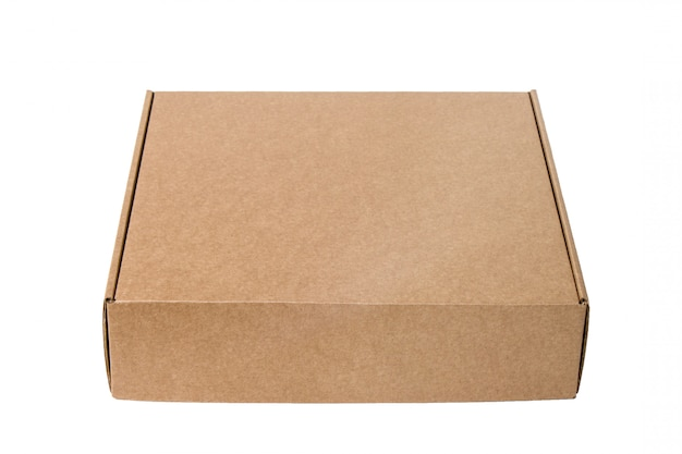 Delivery. cardboard box isolated on white. Premium Photo