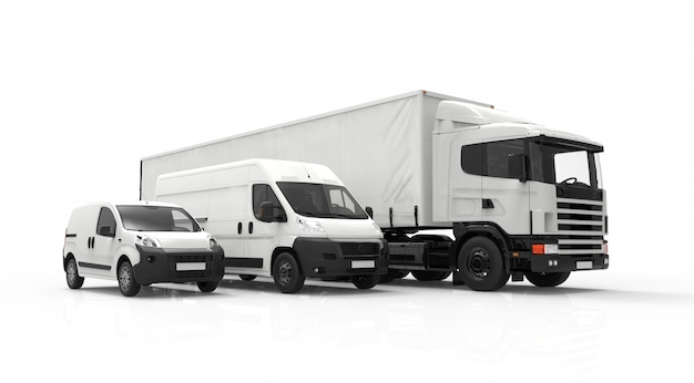 Delivery vehicles Premium Photo