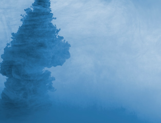 Dense blue cloud of haze Free Photo