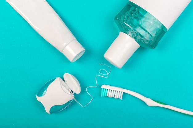 Dental care products Premium Photo
