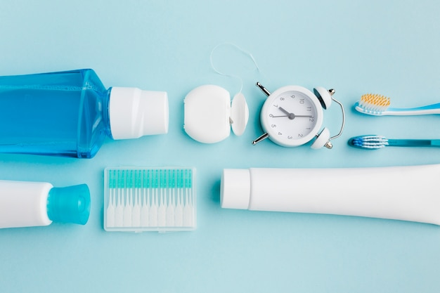 平干しの歯科衛生用品 Premium写真