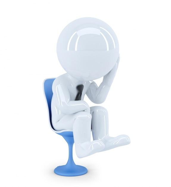 Depressed businessman. isolated Free Photo