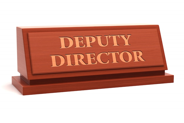 Deputy director job title on nameplate Premium Photo