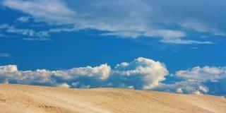 砂漠と青い空