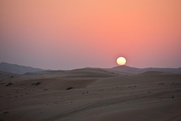 Пустынные дюны в ливе, объединенные арабские эмираты Premium Фотографии