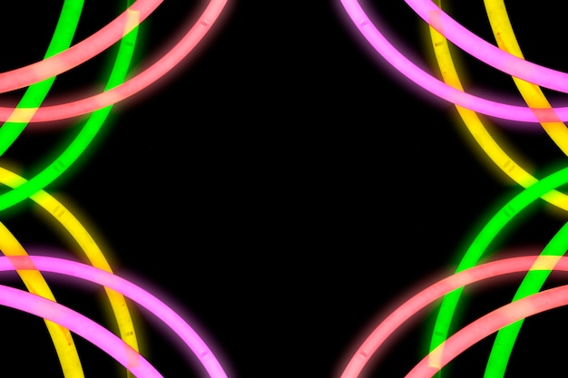 Design made from neon light tube Free Photo