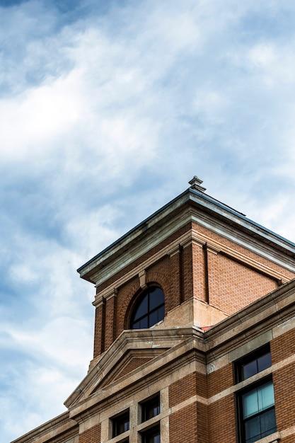 Design of old brick building Free Photo
