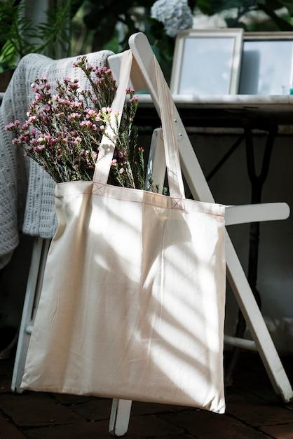 Design space on tote bag Premium Photo