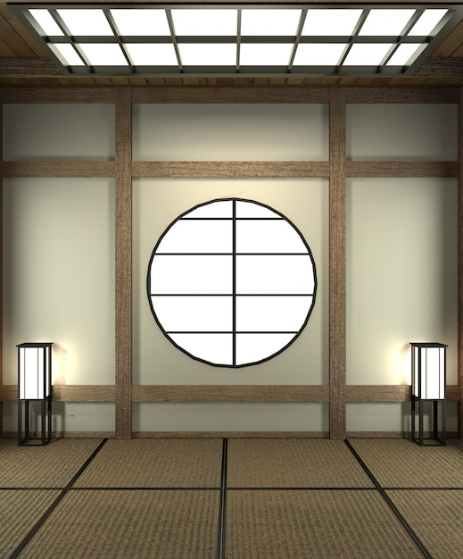 Designed specifically in japanese style, empty room. Premium Photo