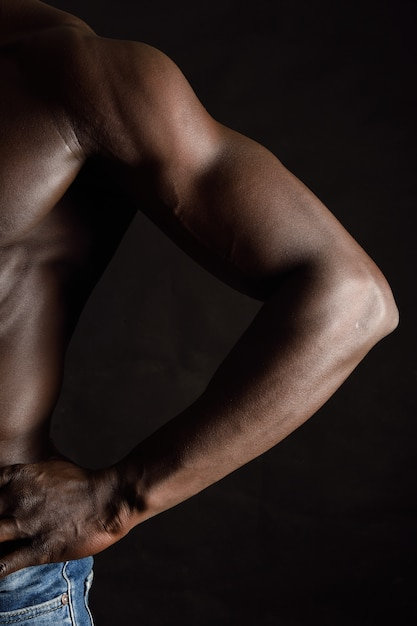Detail of the arm of an african man Premium Photo