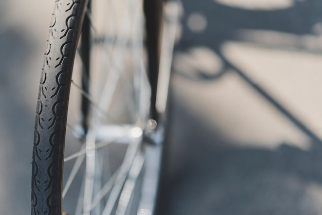 Detail of bicycle wheel Free Photo