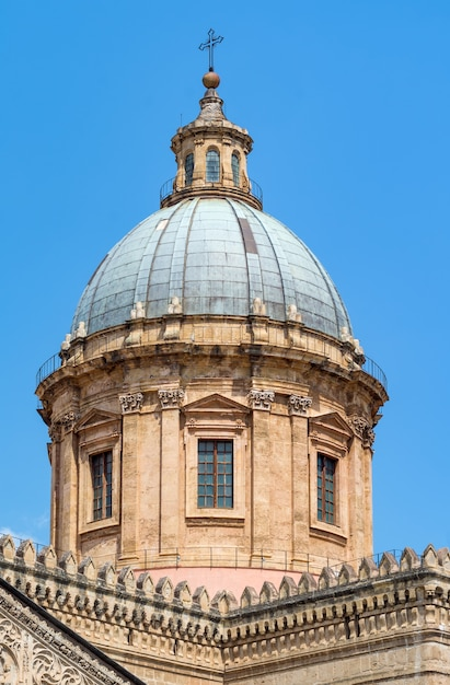 Detail of cathedral of palermo, sicily Premium Photo