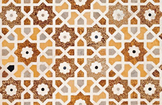 Detail of decorating the taj mahal Premium Photo