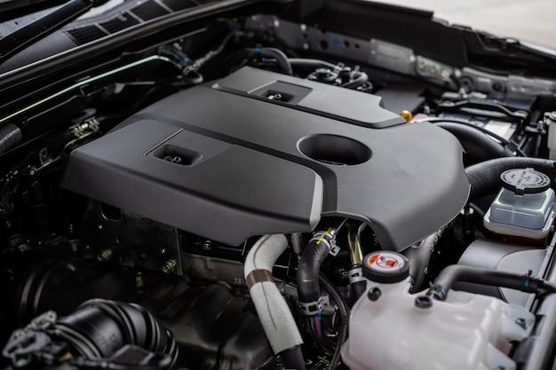 Detail of new car engine Premium Photo