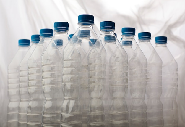 Detail of plastic bottles for recycling. Free Photo
