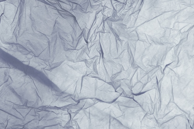 Detail of the texture of a blue plastic bag Premium Photo